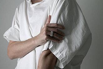 Prstene - betónový prsteň CUBE (natural) - 10056314_