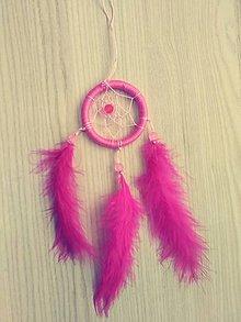 Dekorácie - Malý ružový lapač snov - 10057906_