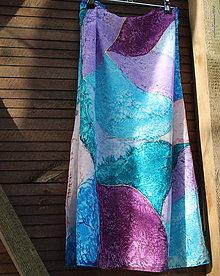 Šatky - silk scarf_hodvábna šatka_colourful - 10053741_
