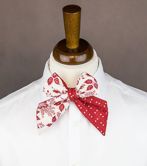 9e2c204d2 Dámská kravata/mašla obojstranná (červená/biela) / bubibubi_ties ...