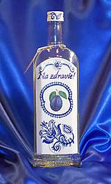 Iné - Darčeková fľaša na slivku Na zdravie! - 10055271_
