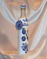 Nádoby - Ozdobná fľaša na pálené Slivka - 10055307_