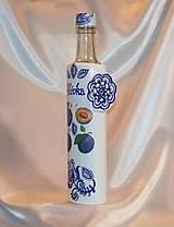 Nádoby - Ozdobná fľaša na pálené Slivka - 10055310_