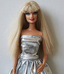 Hračky - Strieborný korzet pre Barbie - 10057581_