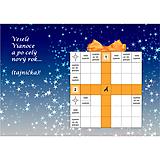 Grafika - Vianočná krížovková pohľadnica pre tých, čo zle spia - 10053607_