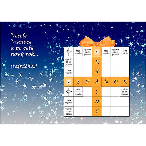 Vianočná krížovková pohľadnica pre tých, čo zle spia