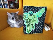 Papiernictvo - Vegetable wrapper - Obal na knihu s hráškom - 10056221_
