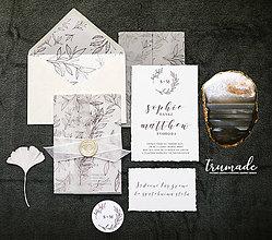 Papiernictvo - Svadobné oznámenia - Elegant & Light - 10053893_