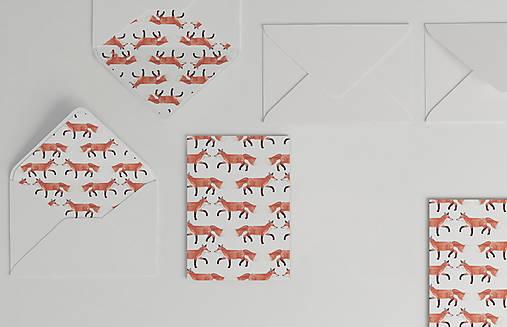 Papiernictvo - Vianočná akvarelová pohľadnica | ilustrácia Líšky hrdzavej - 10057112_