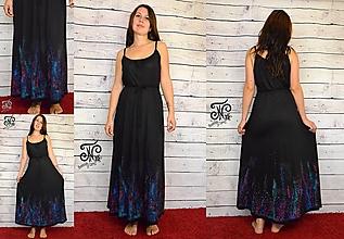 Šaty - Nočná obloha - dámske šaty - 10055579_