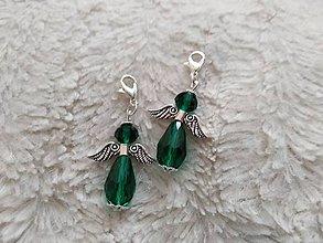 Iné doplnky - Prívesok Zelený anjel - 10055083_