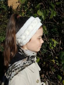 Čiapky - Čelenka biela - 10054125_