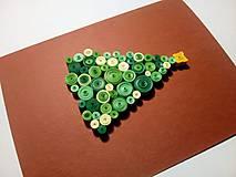 Papiernictvo - Pohľadnica Vianočný stromček - 10056245_