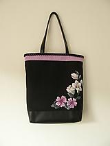 Veľké tašky - Taška frézie a slez - 10054978_