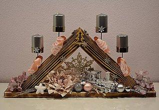 Dekorácie - Adventný svietnik: Vianočná rozprávka T50403 - 10056700_