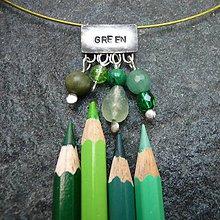 Náhrdelníky - Farebný svet - zelená - 10055642_