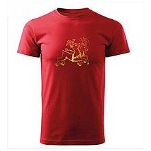 Tričká - Tričko Zvoniace soby (červené tričko) (S - Strieborná) - 10057818_