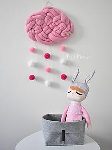 Dekorácie - Mráčik z merina velký - ružový - 10053535_