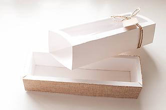 Krabičky - Krabička na želanie s jutovinou - 10054653_