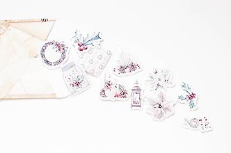 Papier - Set Vianočných nálepiek (B.) - 10055255_