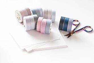 Papier - Púdrové WASHI pásky / Set 3 pcs - 10055430_