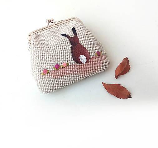 Peňaženka mini Zajačik s kvietkami