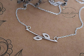 Náhrdelníky - strieborný náhrdelník CUTE WILDNESS  (LISTY) - 10054062_