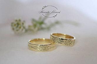 Prstene - Zlaté obrúčky - Šariš (žlté Au) - 10054184_