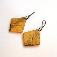 Náušnice - Špaltované brezové štvoruholníky - 10056644_