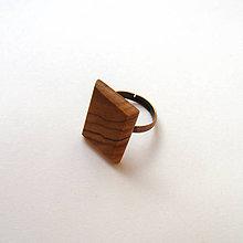 Prstene - Olivovníkový skosený - 10056792_
