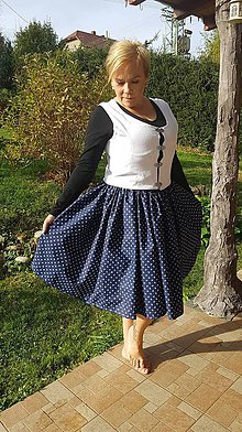Topy - Jednoduché ľudové dobové oblečenie - 10054882_
