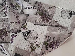 Úžitkový textil - Okruhly obrus  (Teflonový levandulový) - 10057929_