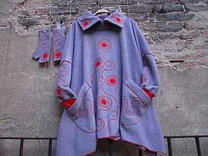 Kabáty - Pončo-kabátek - 10059750_