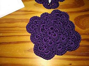 Úžitkový textil - Fialovo slivkové podšálky  (Fialová) - 10060425_