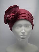 Čiapky - Dámsky klobúčik s veľkým kvetom - 10058097_