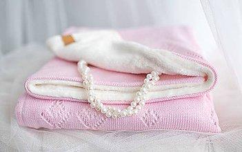 """Textil - Zimná Detská Deka,""""Classic Royal"""", OEKO-TEX® - Bledoružová/smotanová dšívka - 10061740_"""