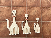 Dekorácie - Drevená mačka - 10061748_