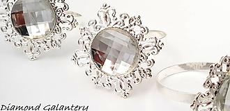 Galantéria - Ozdobná prsteňová aplikácia na servítky - 10060727_