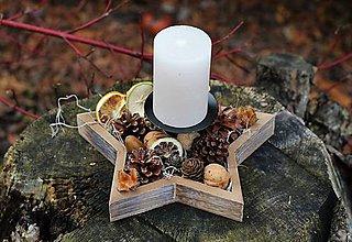 Dekorácie - Vianočný svietnik  - 10058229_
