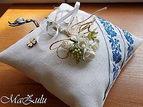Prstene - Svadobný vankúšik na obrúčky folklórny / ľudový / - 10058175_
