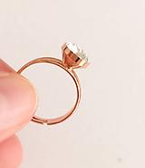 Swarovski prsteň ružové zlato