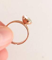 Prstene - Prsteň Swarovski ružové zlato - 10059699_