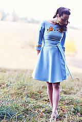 Šaty - Svetlomodré krátke šaty Poľana - 10059943_
