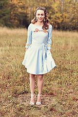Šaty - Svetlomodré krátke šaty Poľana - 10059944_