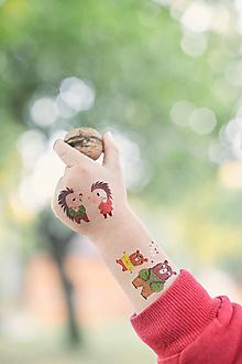 Detské doplnky - Dočasné tetovačky - Slovenské zvieratká (32) - 10061745_
