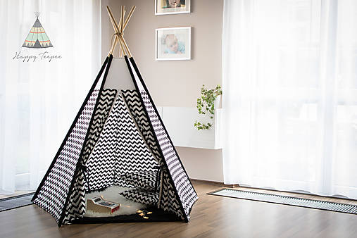 Teepee BLACK/WHITE chevron