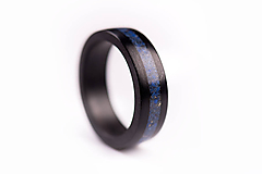 Prstene - Drevený prsteň Eben & Lapis Lazuli - 10058752_