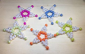 Dekorácie - Hviezda 5 (Ružová) - 10061241_