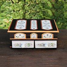 Krabičky - Maľovaná šuplikasňa - 10057958_