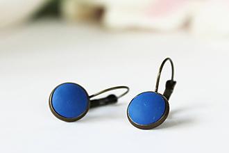 Náušnice - Francúzske náušnice trendy (Nebulas Blue) - 10058382_